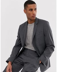 Calvin Klein Slim Fit Suit Jacket - Grey