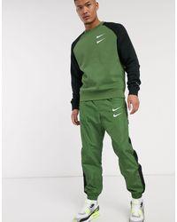 Nike Double Swoosh Joggers - Green