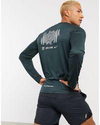 Nike - Зеленый Лонгслив С Принтом Pacer - Lyst