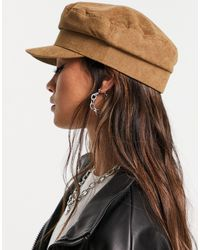 ASOS Cord Baker Boy Hat With Size Adjuster - Brown