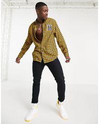 Tommy Hilfiger Клетчатая Рубашка С Логотипом Lewis Hamilton-желтый