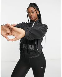 PUMA Черная Куртка С Короткой Молнией Training-черный Цвет
