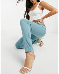 Missguided Riot Highwaisted Buckle Detail Mom Jean - Green