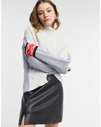 Free People Chalet Cozy Funnel Neck - Multicolor