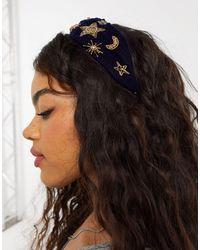 ASOS Geknoopte Haarband Met Hemelse Versieringen - Blauw