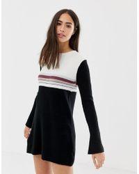 Free People Colourblock Sweater Dress - Black