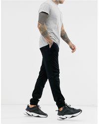 ASOS Skinny Cord Cuffed joggers - Black