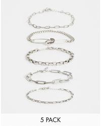 ASOS - Industrial Chains Bracelet Pack - Lyst