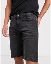 Esprit Slim Denim Short - Black