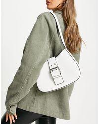 TOPSHOP Structured Scoop Shoulder Bag - White