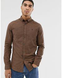 Burton Long Sleeve Gingham Shirt - Brown