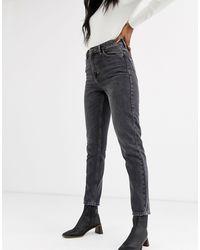 TOPSHOP Mom jeans nero slavato