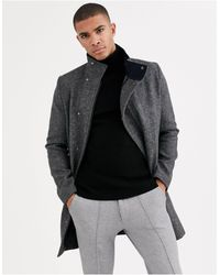 Tom Tailor Funnel Neck Coat - Grey