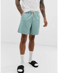 ASOS Slim Shorts In Pastel Blue Cord