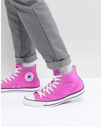 Converse - Chuck Taylor All Star Hi Plimsolls In Pink 159673c - Lyst