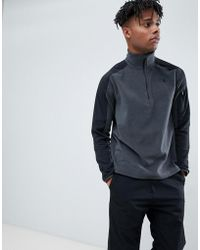 The North Face - Glacier Delta 1/4 Zip Fleece In Grey - Lyst