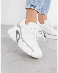 Ash Bang Chunky Wedged Trainers - White