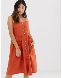 Brave Soul - Leah - Midi-jurk Met Knopen - Lyst