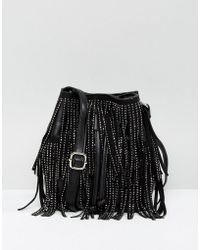 New Look - Diamante Fringe Duffle Bag - Lyst