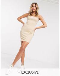 PUMA Ribbed Mini Dress - Gray