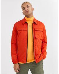 ASOS Gewatteerd Jacket Met Utility Details - Oranje