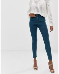 ASOS Ridley High Waisted Skinny Jeans - Blue