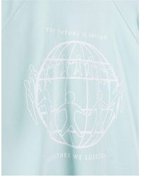 "Tommy Hilfiger - Голубой Свитшот В Стиле Унисекс С Принтом ""one Planet"" Спереди - Lyst"