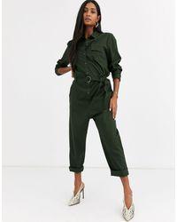 Ichi - Boiler Suit-green - Lyst