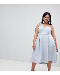 ASOS - Asos Design Curve Premium Corsage Strap Prom Dress - Lyst