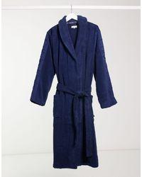 Calvin Klein Robe Bademantel - Blau