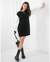 Vero Moda - Черное Платье-свитшот С Объемными Рукавами -многоцветный - Lyst