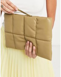 Mango Quilted Pillow Clutch Bag - Multicolour