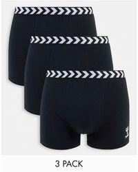 Hummel Classic 3-pack Boxer Shorts - Black
