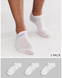 New Balance 3 Пары Белых Спортивных Носков -белый
