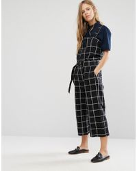 Shades of Grey by Micah Cohen - Checked Utility Jumpsuit - Lyst