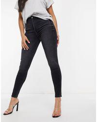 True Religion Caia High Rise Skinny Jeans - Blue