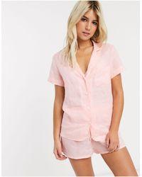 Faithfull The Brand Faithfull Maisy Linen Shirt - Pink
