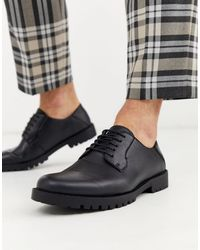 New Look Faux Leather Chunky Derby - Black