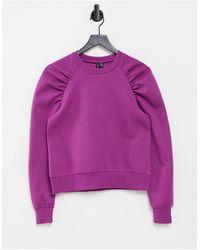 Vero Moda Sudadera violeta con detalle - Morado