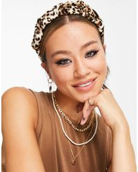 Object Co-ord Leopard Print Hairband - Brown