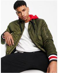 Tommy Hilfiger Куртка-бомбер С Капюшоном И Логотипом Lewis Hamilton-зеленый Цвет
