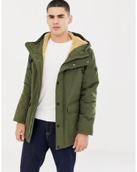 Esprit - Hooded Parka With Teddy Lining In Light Khaki - Lyst