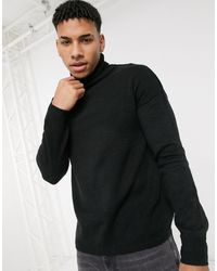 Another Influence Roll Neck Sweater - Black