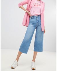 Stradivarius - Denim Plain Culotte - Lyst