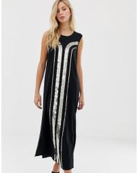 Sass & Bide Vestido columna con estampado art deco de lentejuelas - Negro