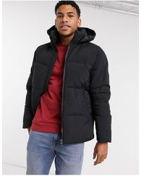 TOPMAN Recycled Puffer Jacket - Black