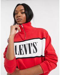 Levi's Свитшот На Молнии С Логотипом -красный