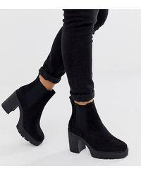 ASOS Elderberry - Chelsea Boots Met Brede Pasvorm - Zwart