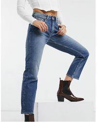 Pepe Jeans Mary High Waist Straight Leg Jeans - Blue