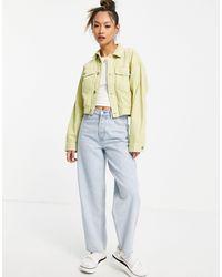 WÅVEN Укороченная Джинсовая Oversized-куртка Зеленого Лаймового Цвета (от Комплекта) Nina-зеленый Цвет
